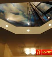 Натяжной потолок небоскрёб
