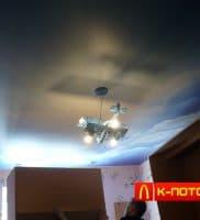 Натяжной потолок с фотопечатью небо