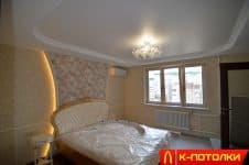 Матовые натяжные потолки в спальне — фото, преимущества