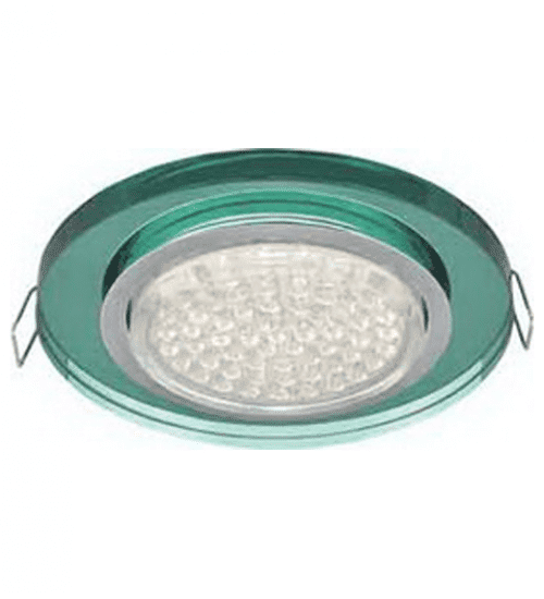Ecola GX53 H4 Glass Стекло Круг хром - изумруд 38x126