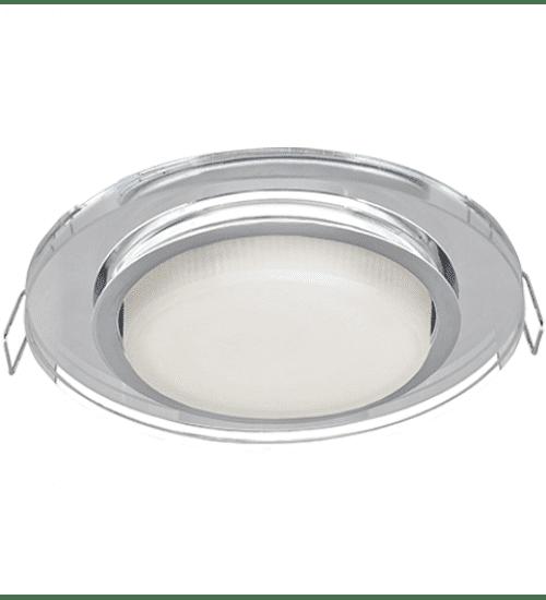 Ecola GX53 H4 Glass Стекло Круг хром - хром 38x126