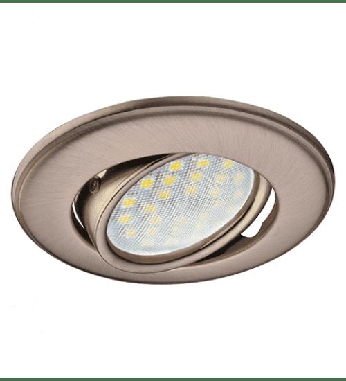 Ecola MR16 DH03 GU5.3 Светильник встр. поворотный выпуклый (скрытый крепеж лампы) Сатин-Хром 25x88