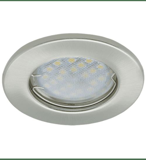 Ecola Light MR16 DL90 GU5.3 Светильник встр. плоский Сатин-Хром 30x80 (кd74)